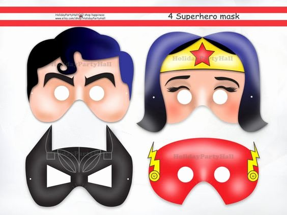 Superhero Mask Template Pdf Awesome Superheroes Flash Superhero and Superman Party On Pinterest