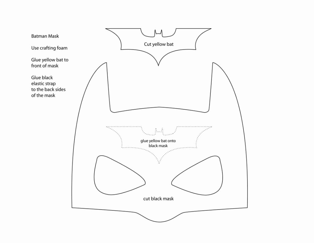 Superhero Mask Template Pdf Beautiful Pattern for Batman Mask