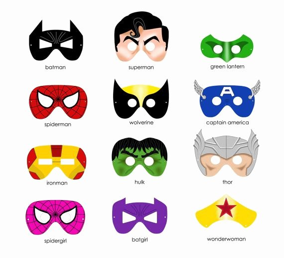 Superhero Mask Template Pdf Best Of Super Hero Mask Template
