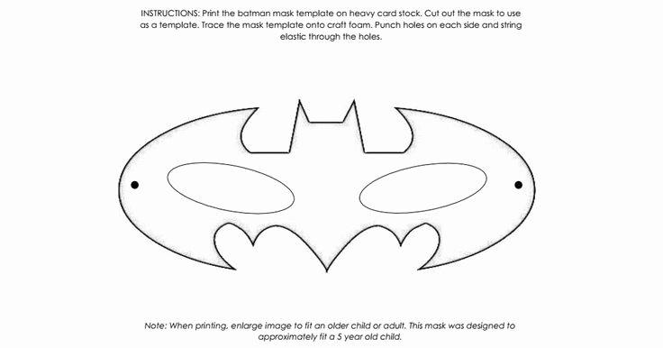 Superhero Mask Template Pdf Elegant 17 Best Ideas About Batman Mask On Pinterest