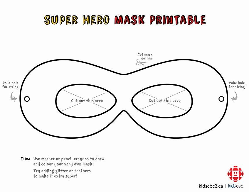 Superhero Mask Template Pdf Elegant Make Your Own Super Awesome Superhero Mask