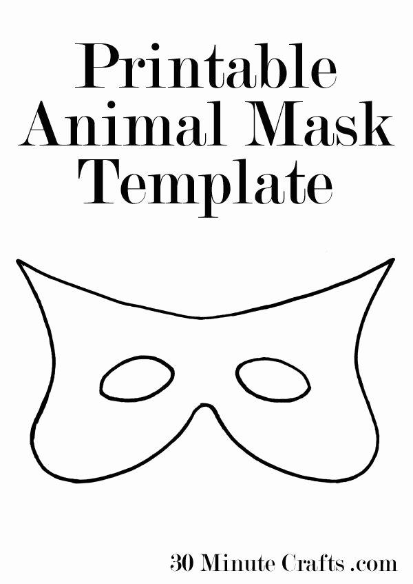 Superhero Mask Template Pdf Elegant Printable Animal Mask Templates