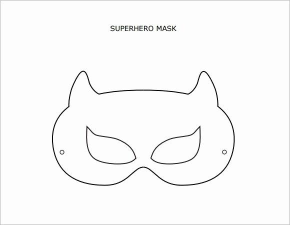 Superhero Mask Template Pdf Elegant Superhero Mask Template Pdf Masks