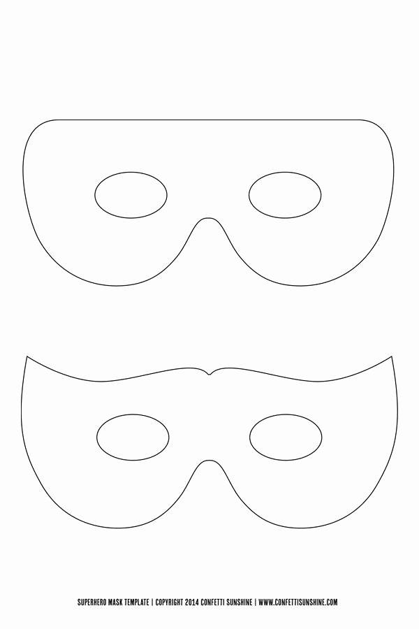 Superhero Mask Template Pdf Fresh Super Hero Mask Free Template Things to Make