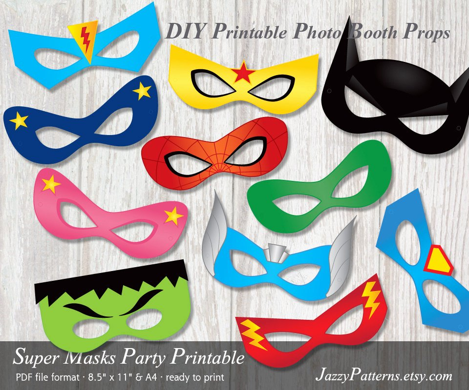 Superhero Mask Template Pdf Inspirational Diy Superhero Printable Masks Photo Booth Props In Ic Book