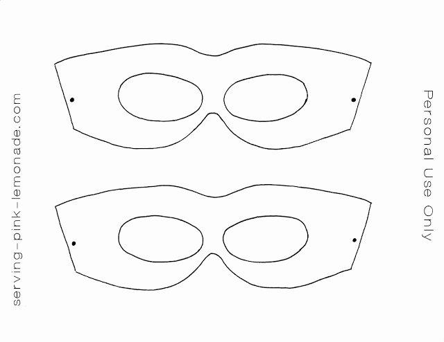 Superhero Mask Template Pdf Inspirational Diy Superheroe Masks Oh My Fiesta In English