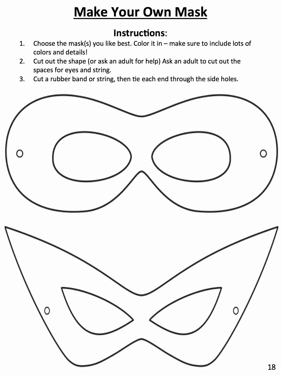 Superhero Mask Template Pdf Inspirational Download This Template to Design Your Own Superhero Mask