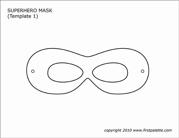 Superhero Mask Template Pdf Inspirational Superhero Mask Templates
