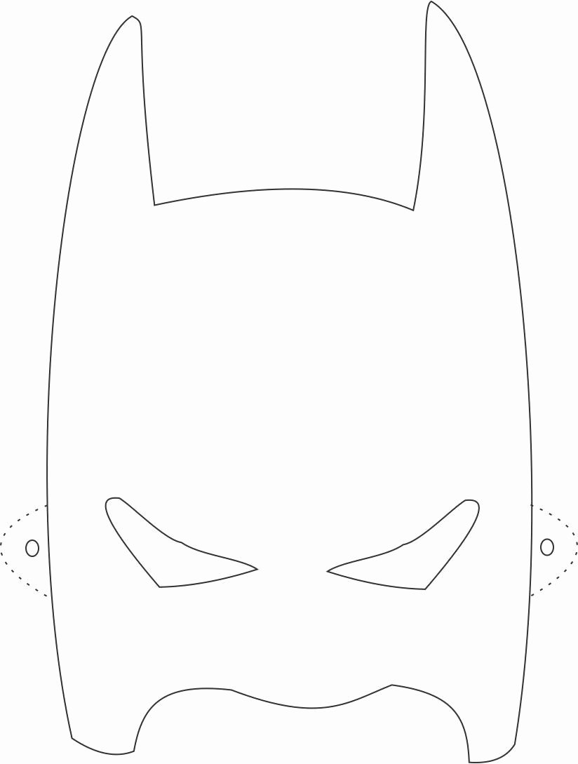 Superhero Mask Template Pdf Lovely Batman Mask Printable Coloring Page for Kids Coloring