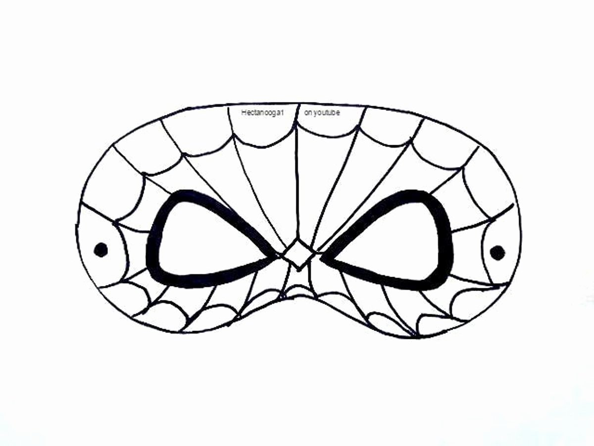Superhero Mask Template Pdf Lovely Free Printable Spiderman Mask Template