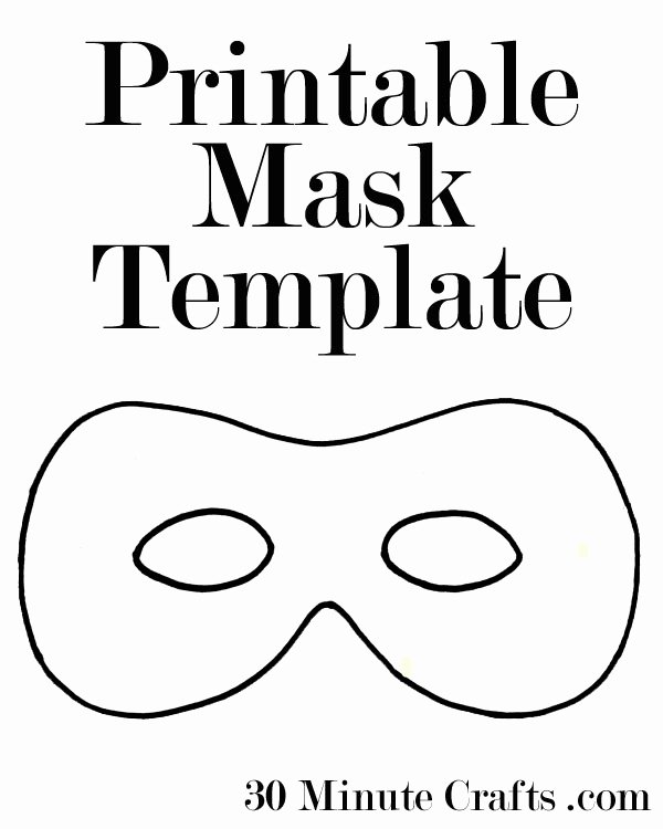 Superhero Mask Template Pdf Lovely Printable Halloween Mask Templates 30 Minute Crafts