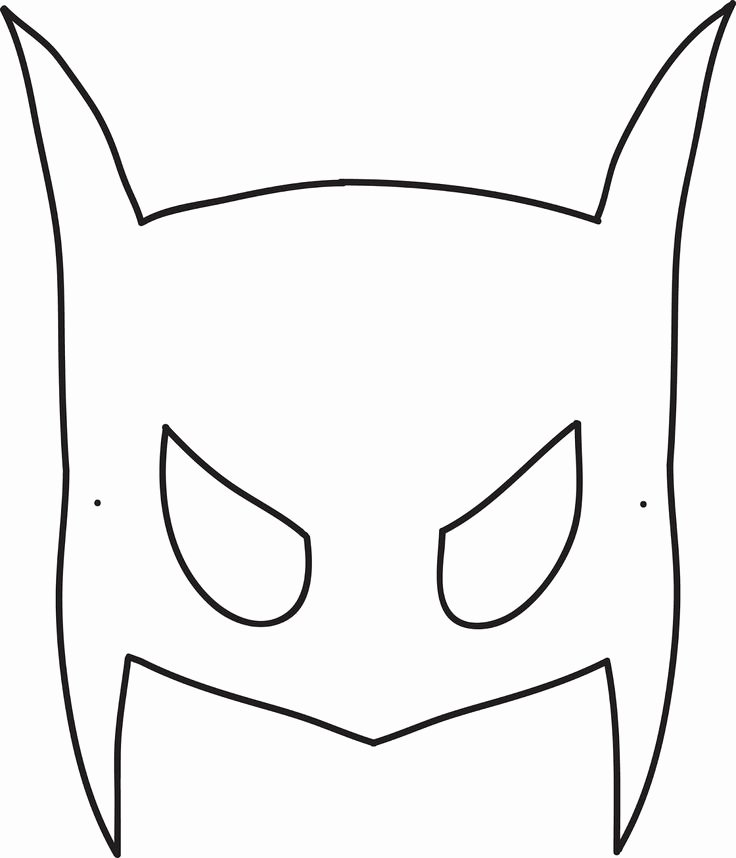 Superhero Mask Template Pdf Luxury Robin Mask Template