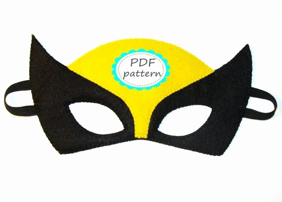 Superhero Mask Template Pdf New Unavailable Listing On Etsy