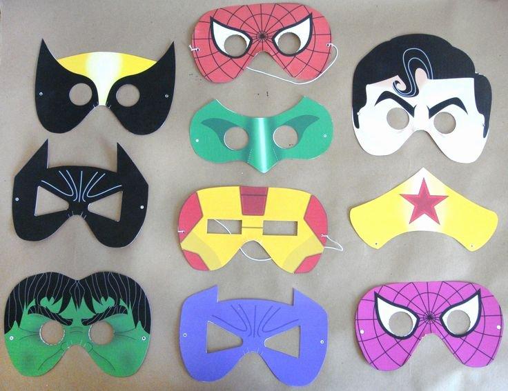 Superhero Mask Template Pdf Unique 79 Best Images About Superhero Party On Pinterest