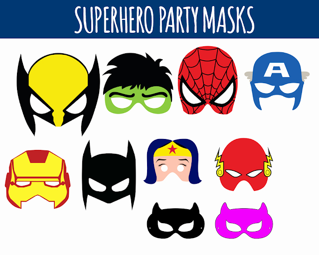 Superhero Mask Template Pdf Unique Printable Superhero Birthday Party Masks Free Instant