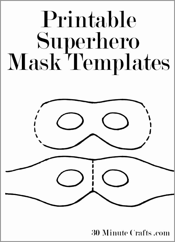 Superhero Mask Template Pdf Unique Super Hero Mask Free Template Things to Make Printable