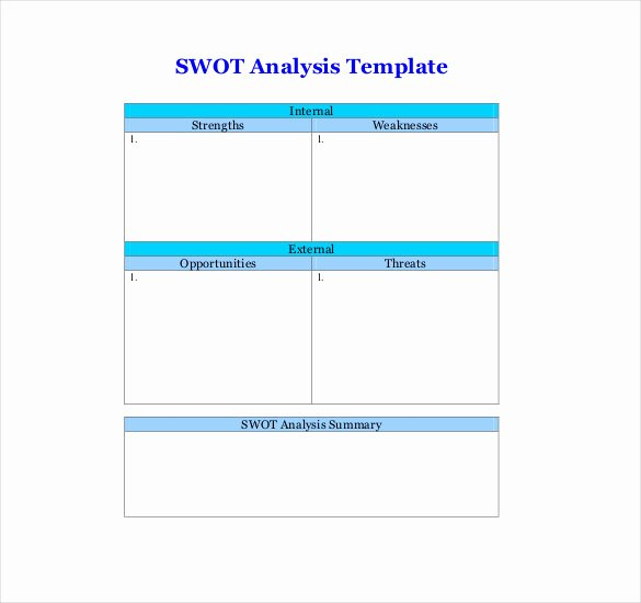 Swot Analysis Template Word Awesome Free Swot Analysis Template 10 Free Word Excel Pdf