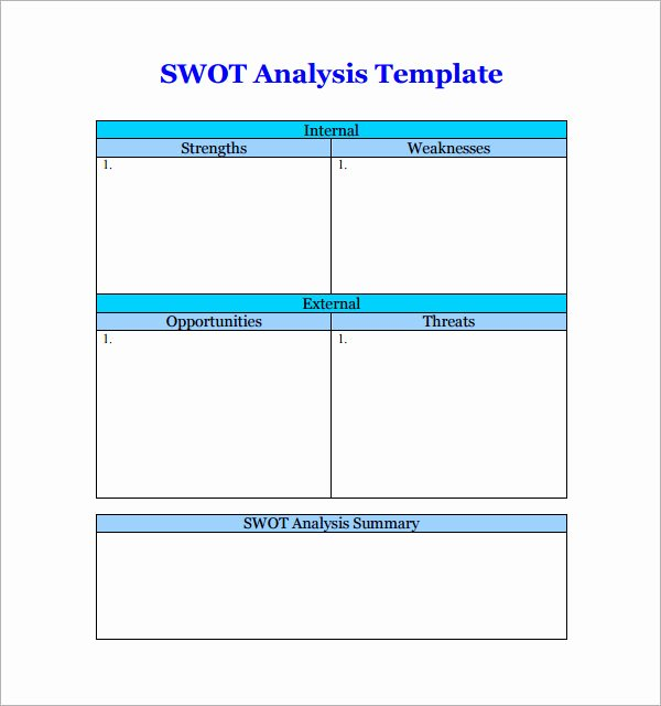 Swot Analysis Template Word Beautiful Swot Analysis Template