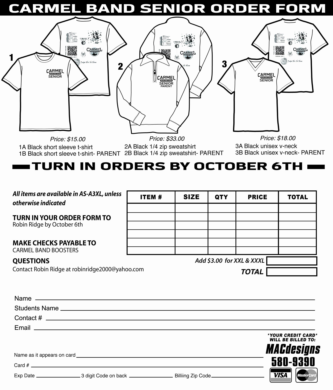 T Shirt order form Template Unique T Shirt order form Template