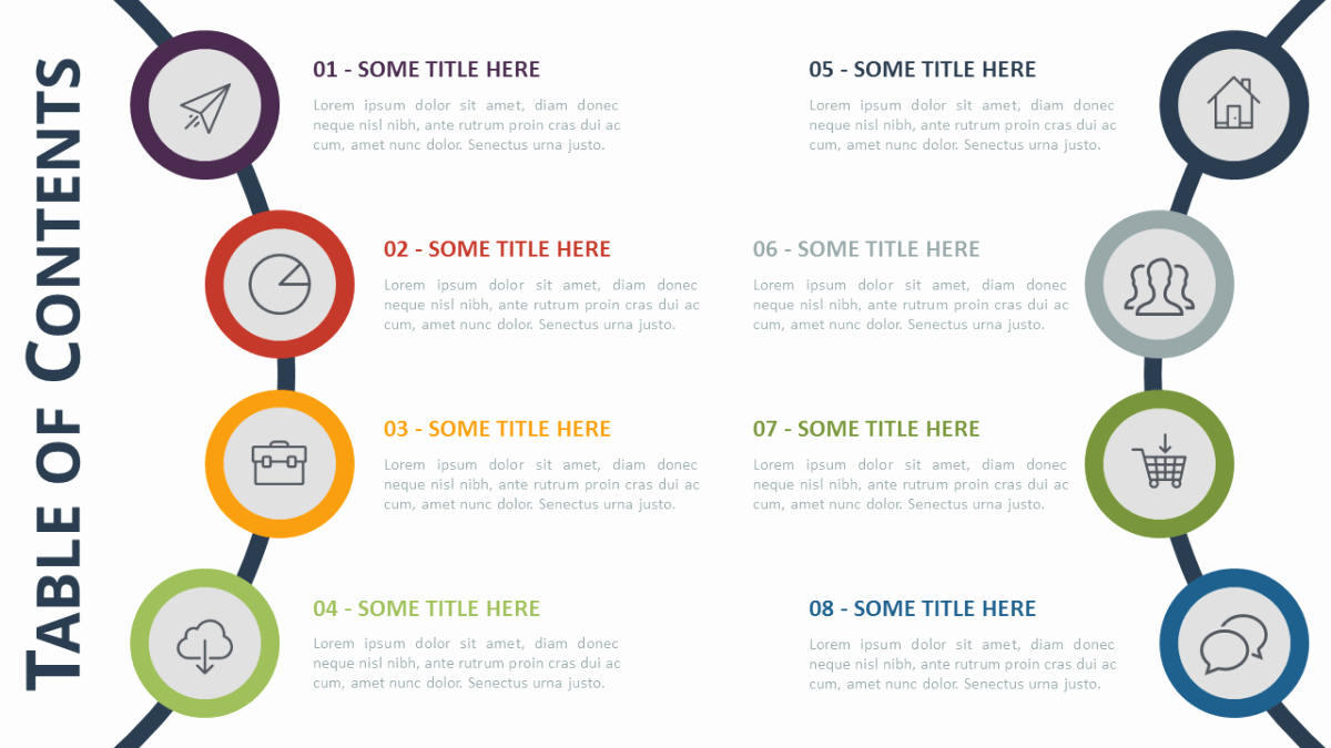 Table Of Contents Template Beautiful Table Of Content Free Powerpoint Template