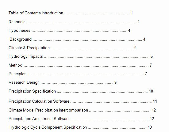 Table Of Contents Template Lovely 10 Best Table Of Contents Templates for Microsoft Word