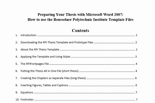 Table Of Contents Template Unique 10 Best Table Of Contents Templates for Microsoft Word