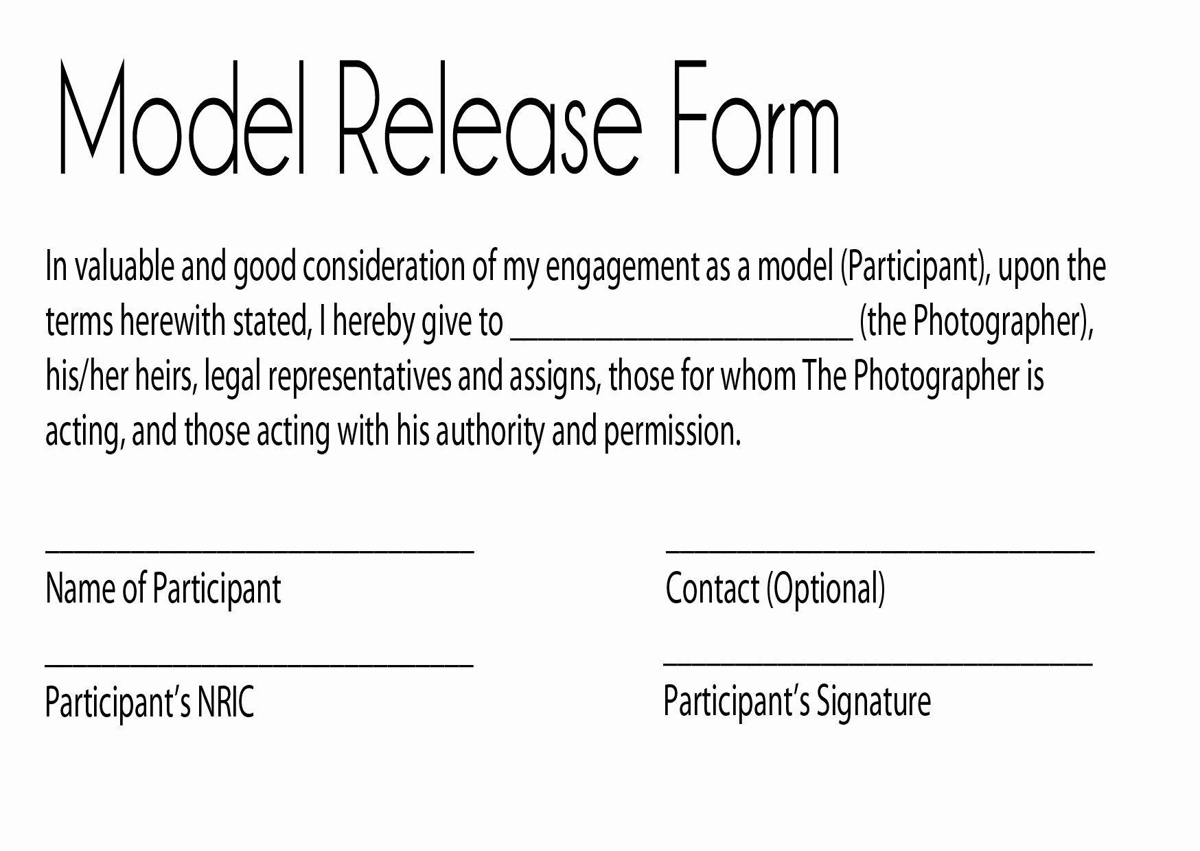 Talent Release form Template Fresh Model Release Glamour Graphy by Jay Kilgoreglamour