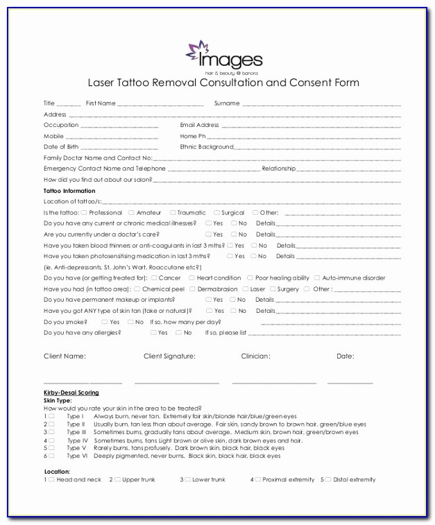 Tattoo Consent form Template Best Of Permanent Makeup Consent form Template