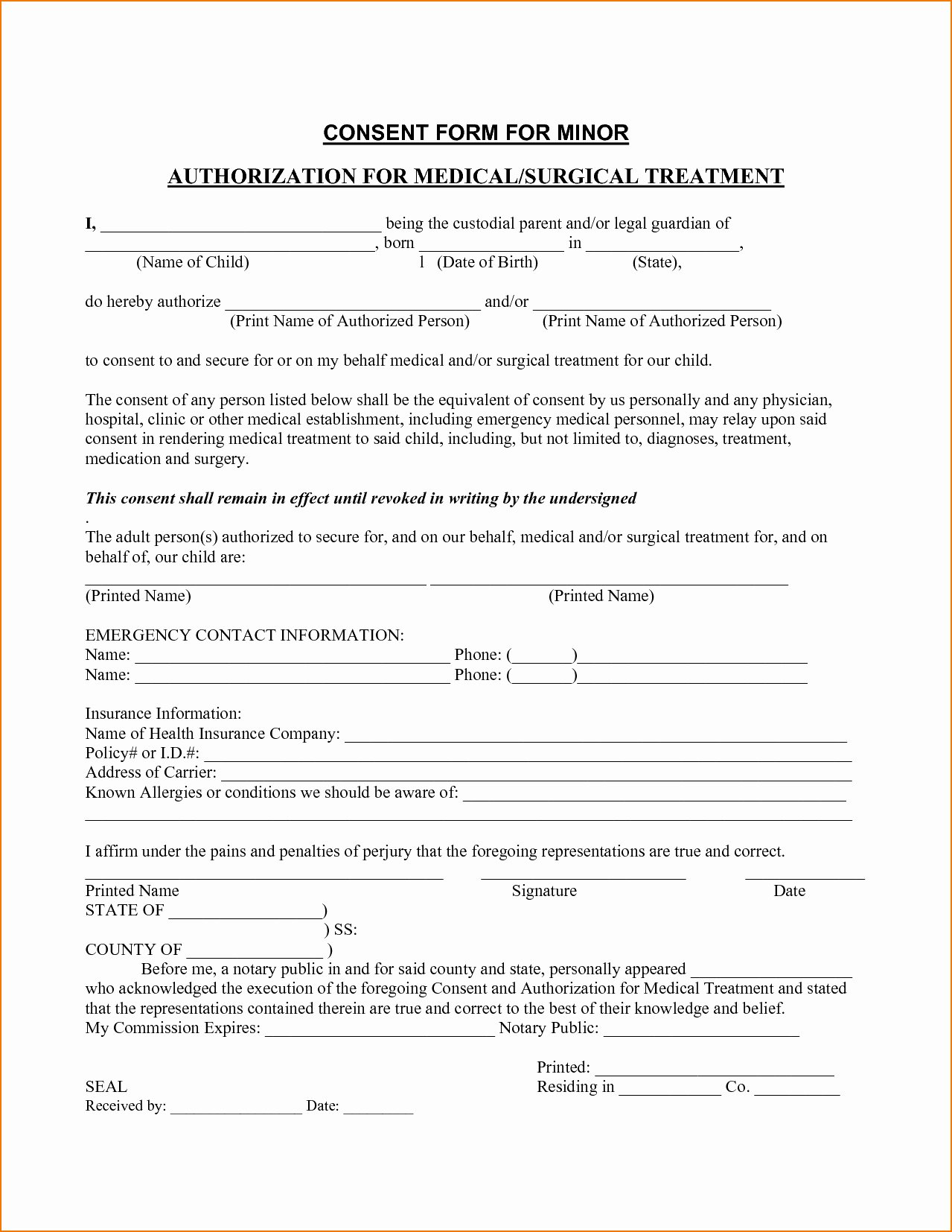 Tattoo Consent form Template Luxury Medical Consent Letter for Grandparents Template