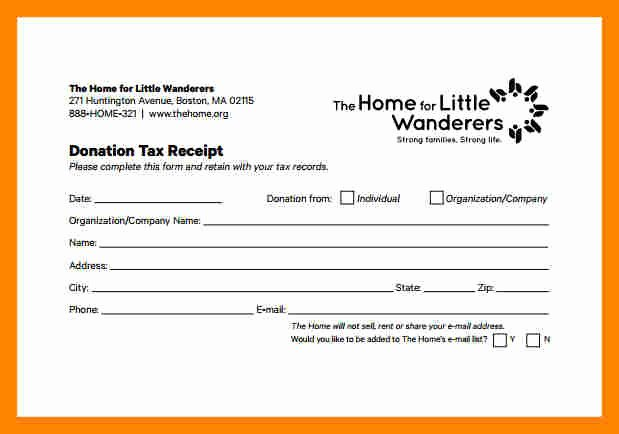 Tax Deductible Donation Receipt Template Best Of Donation Receipt Template