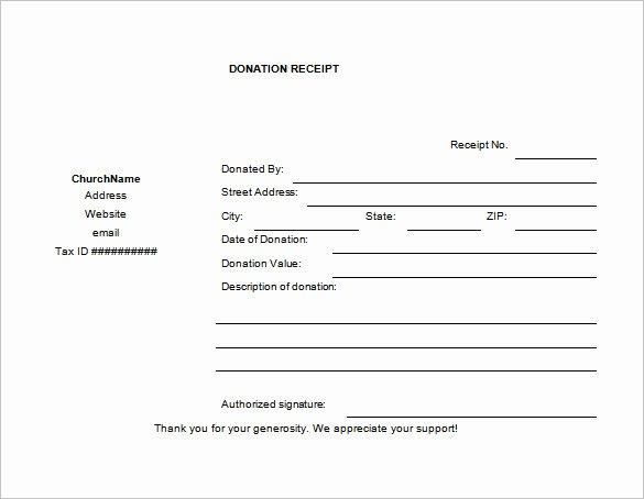 Tax Deductible Donation Receipt Template Elegant 19 Donation Receipt Templates Doc Pdf