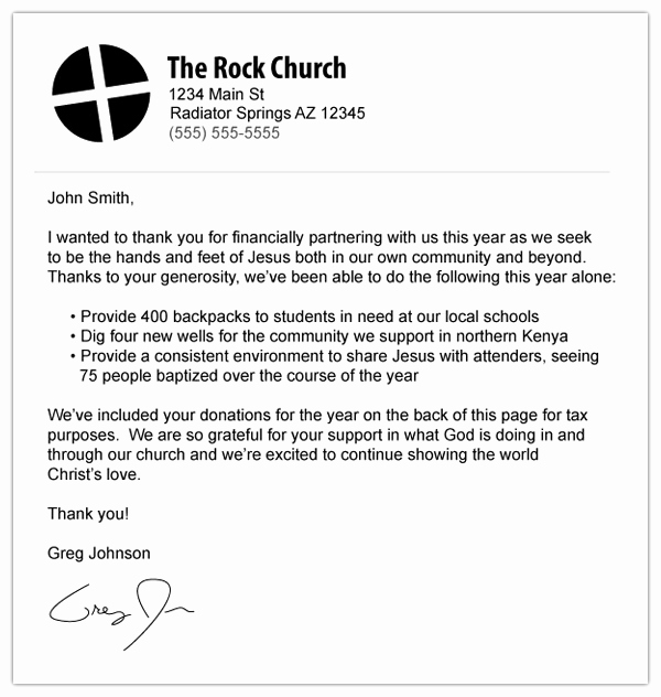 Tax Deductible Donation Receipt Template Elegant Church Donation Letter for Tax Purposes Template