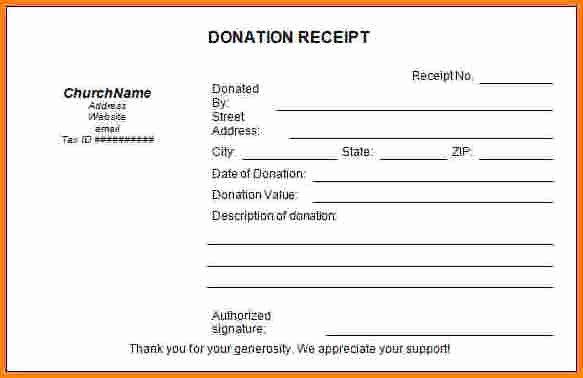 Tax Deductible Donation Receipt Template Lovely 9 Receipt for Tax Deductible Donations