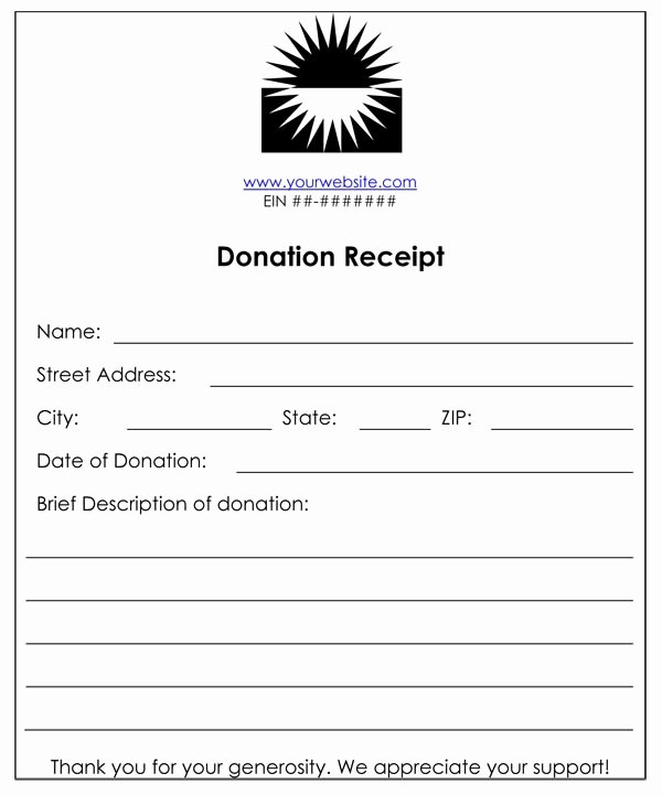 Tax Deductible Donation Receipt Template Luxury Non Profit Donation Receipt Template