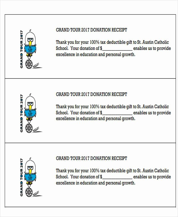 Tax Donation Receipt Template Awesome 7 Tax Receipts for Donation Examples In Word Pdf