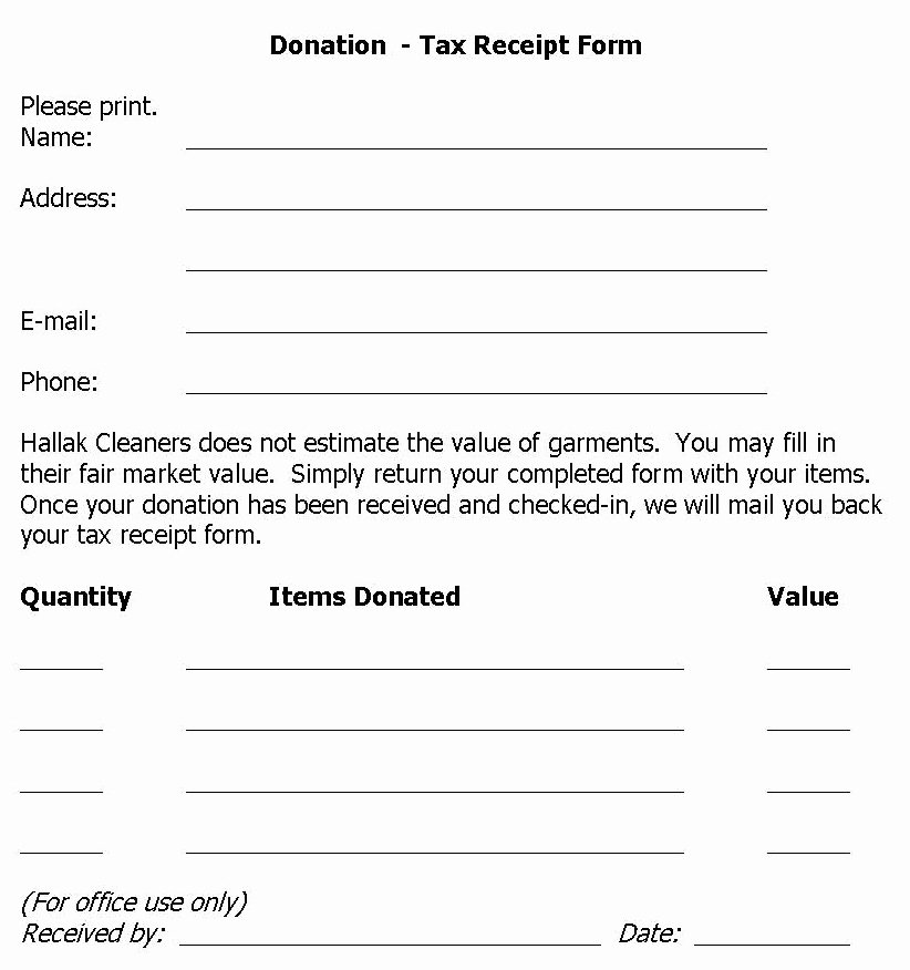 Tax Donation Receipt Template Beautiful Hallak Cleaners Donation Drive Held at Hallak Cleaners