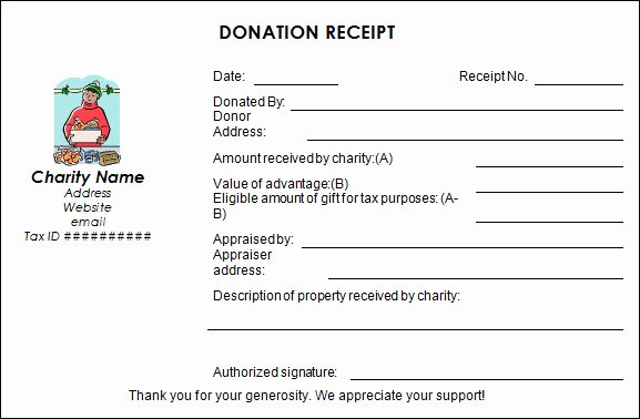 Tax Donation Receipt Template Elegant Free 20 Donation Receipt Templates In Pdf