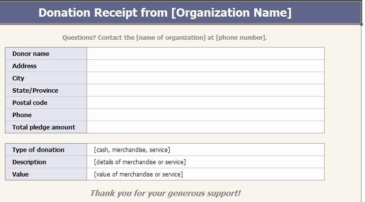 Tax Donation Receipt Template Inspirational 501c3 Donation Receipt