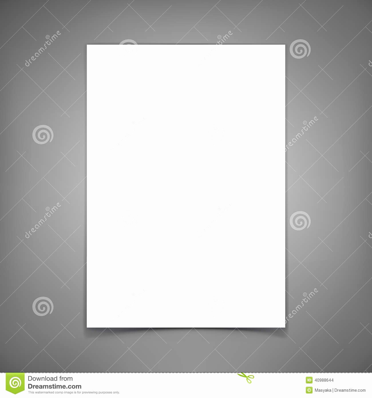 Technical White Paper Template Elegant Vector Blank Paper Sheet Template for Your Design Stock