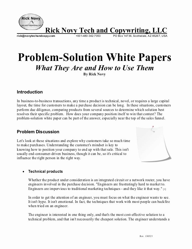 Technical White Paper Template Elegant White Paper On Ps White Papers