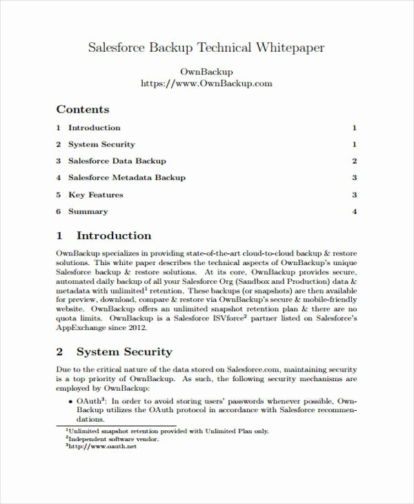 Technical White Paper Template New 33 White Paper Templates In Pdf