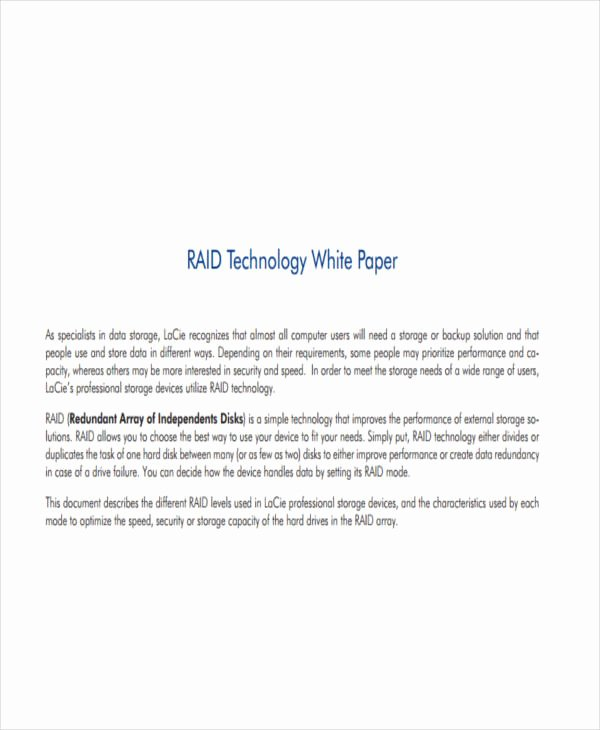 Technical White Paper Template New 38 Sample White Paper Templates