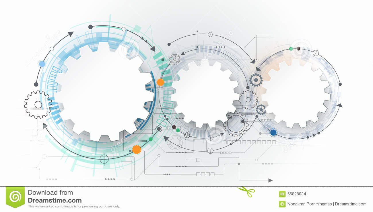 Technical White Paper Template Unique Vector Futuristic Technology 3d White Paper Gear Wheel