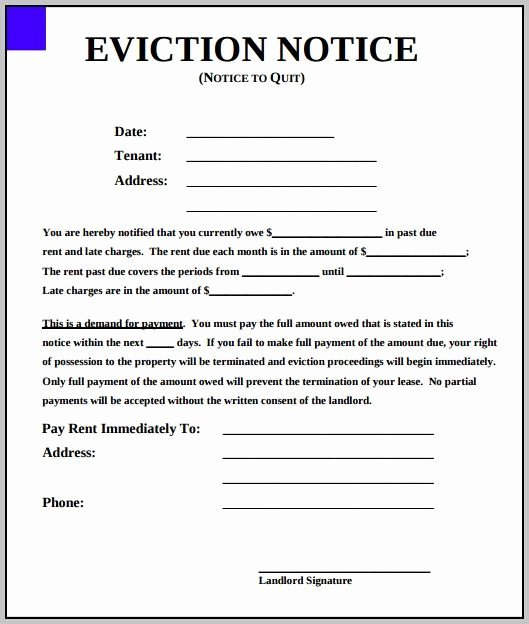 Template for Eviction Notice Fresh Eviction Notice Template New York State