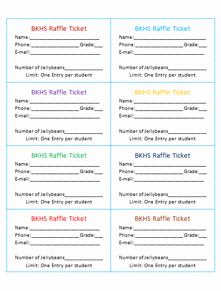 Template for Raffle Tickets Best Of 45 Raffle Ticket Templates