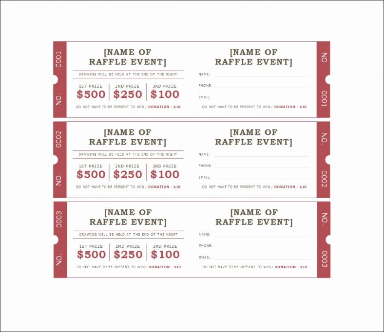 Template for Raffle Tickets Luxury 19 Sample Printable Raffle Ticket Templates Psd Ai