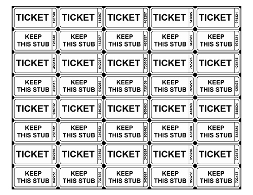 Template for Raffle Tickets Luxury Free Printable Raffle Tickets