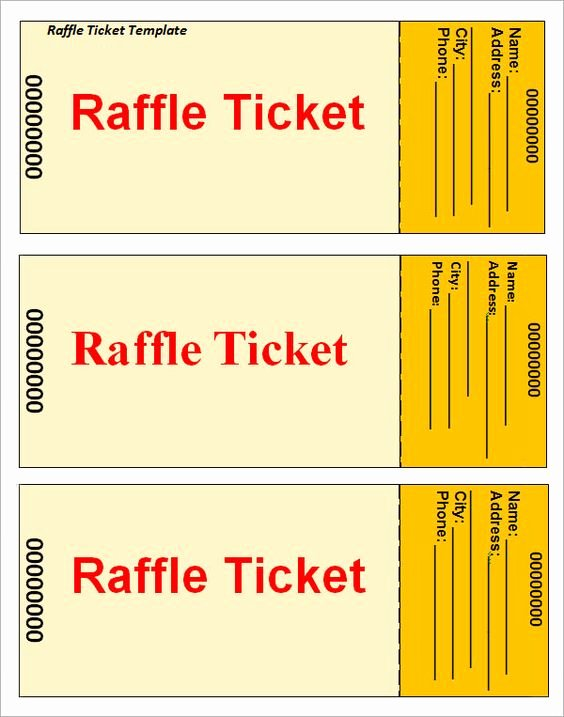 Template for Raffle Tickets Luxury Ticket Template Raffle Tickets and Ticket On Pinterest