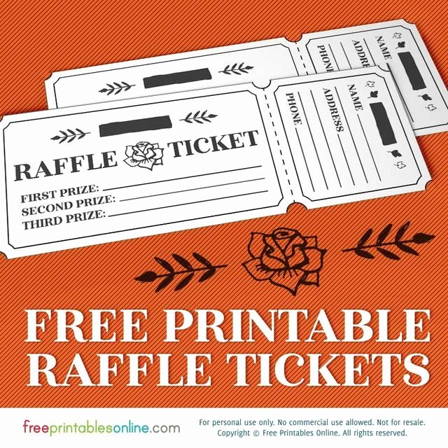 Template for Raffle Tickets Unique Printable Rosy Raffle Tickets Free Raffle Template Free