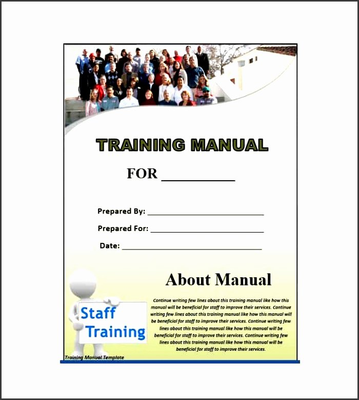 Template for Training Manual Fresh 5 Training Guide Template Word Free Sampletemplatess